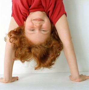 Little Girl Doing Handstand