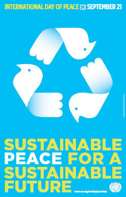 International Day of Peace- UN logo