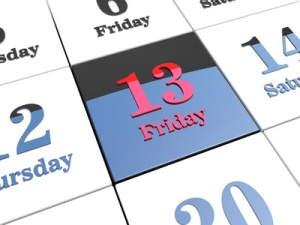Stress, superstition, thirteen, Friday the Thirteenth