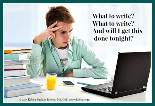 Stress, writing, Effective Author