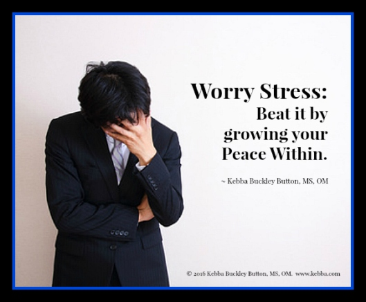 Stress, worry stress, peace within