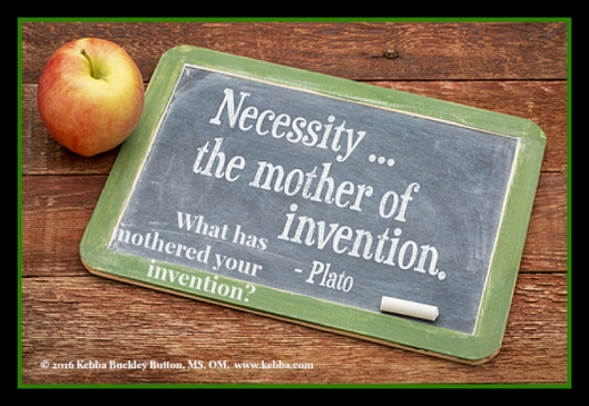 stress, Upbeat Living, the mother of invention