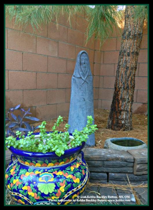 Upbeat Living, Feng Shui Garden, wisdom, stress, Kebba Buckley Button