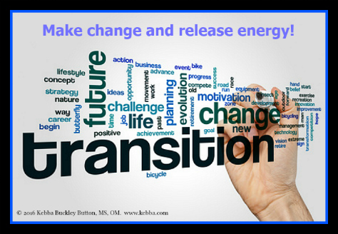 Stress, Upbeat Living, Kebba Buckley Button, create change, release energy