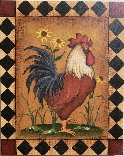 2021 Rooster canvas- IMG_0298
